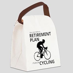 Cyclist Retirement Plan Canvas Lunch Bag