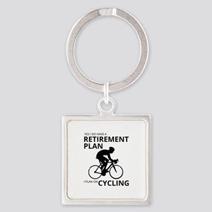 Cyclist Retirement Plan Keychains