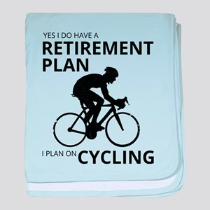 Cyclist Retirement Plan baby blanket