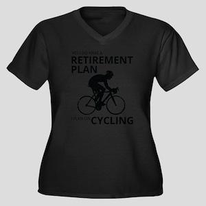 Cyclist Retirement Plan Plus Size T-Shirt