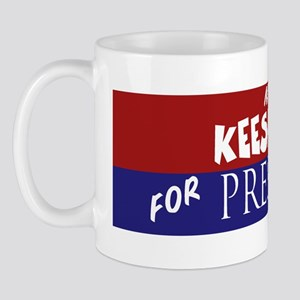 Keeshond_ELECTION STICKER Mug
