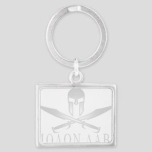 Spartan_Helmet__Swords_Crossed_ Landscape Keychain