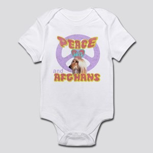 PEACE LOVE and AFGHANS Infant Bodysuit