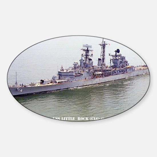 lrock large framed print Sticker (Oval)