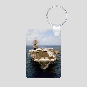 america cv rectangle magne Aluminum Photo Keychain
