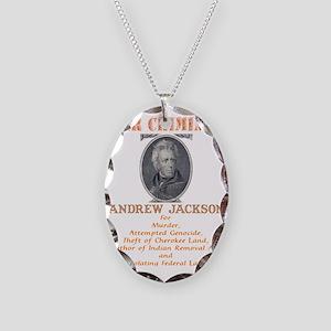 A Jackson - War Criminal Necklace Oval Charm