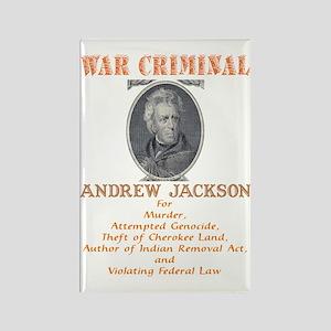 A Jackson - War Criminal Rectangle Magnet