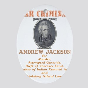 A Jackson - War Criminal Oval Ornament