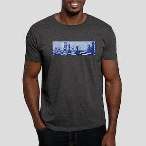 Chess: Study in Blue Dark T-Shirt