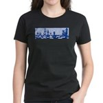 Chess: Study in Blue Women's Dark T-Shirt