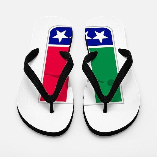 italian soccer(blk) Flip Flops
