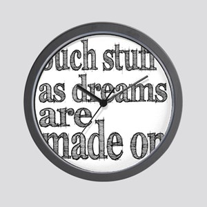 dreams are made of light Wall Clock