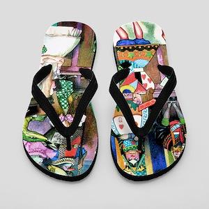 Alice in Wonderland-1 Flip Flops