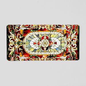 Regal-Splendor-Stained-Glas Aluminum License Plate