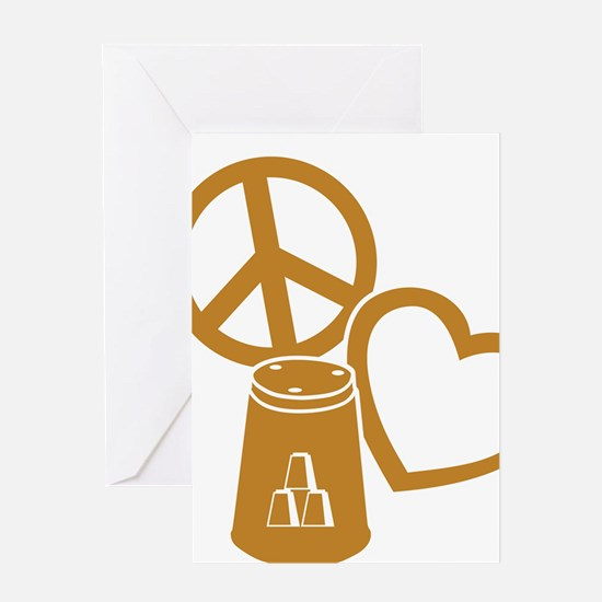 gold 2 PL Cups Greeting Card