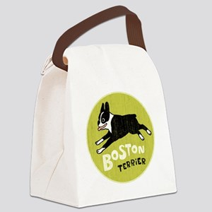 BOSTONTERRIERfordrk Canvas Lunch Bag