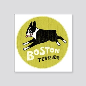 "BOSTONTERRIERfordrk Square Sticker 3"" x 3"""