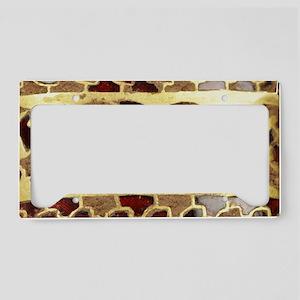 Garnet-Gold-Laptop-skin License Plate Holder
