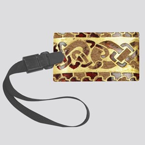 Garnet-Gold-Laptop-skin Large Luggage Tag