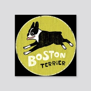 "bostonlicenseplate Square Sticker 3"" x 3"""