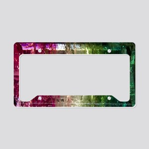 Rew-White-Green-Crystal-Lapto License Plate Holder