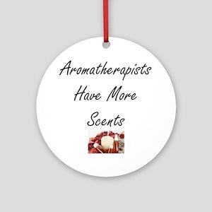aromatherapists Round Ornament