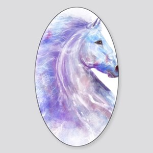 Snow_horse_CPprint Sticker (Oval)
