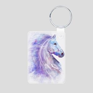 Snow_horse_CPprint Aluminum Photo Keychain
