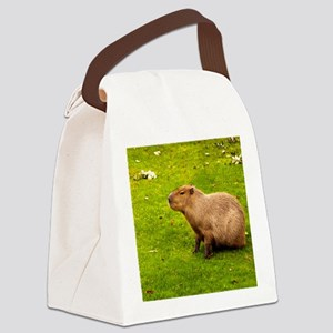 Capybara Canvas Lunch Bag
