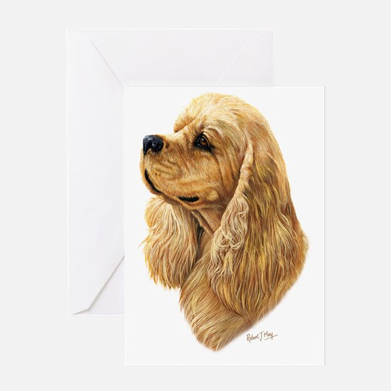 American Cocker 2 dark Greeting Card