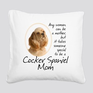 Cocker Mom Square Canvas Pillow