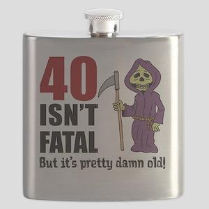 40 Isnt Fatal But Old Flask
