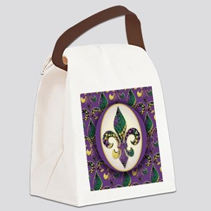 FleurMGbeads2JpPSq Canvas Lunch Bag