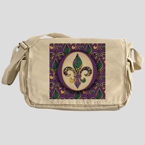 FleurMGbeads2JpPSq Messenger Bag