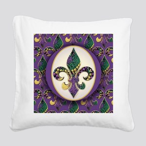 FleurMGbeads2JpPSq Square Canvas Pillow