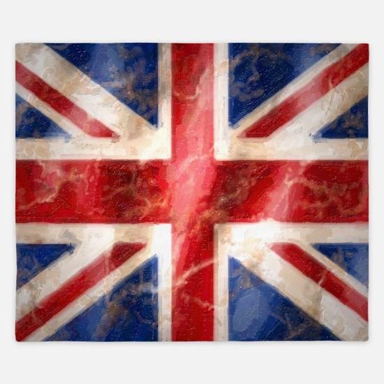 475 Union Jack Flag large King Duvet