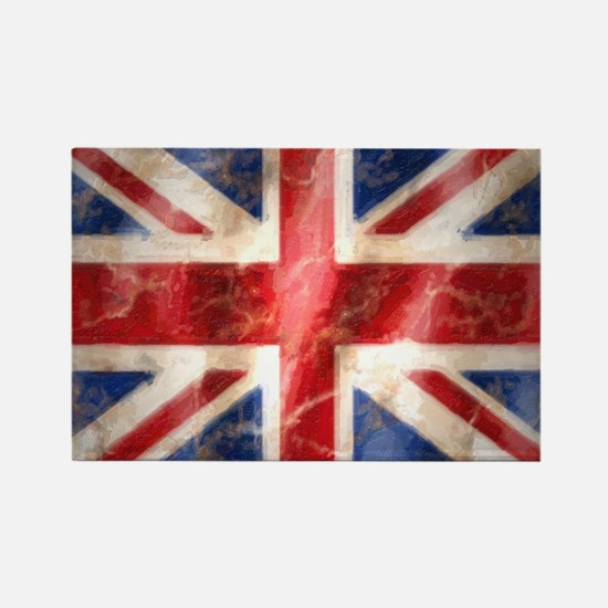 475 Union Jack Flag large Rectangle Magnet