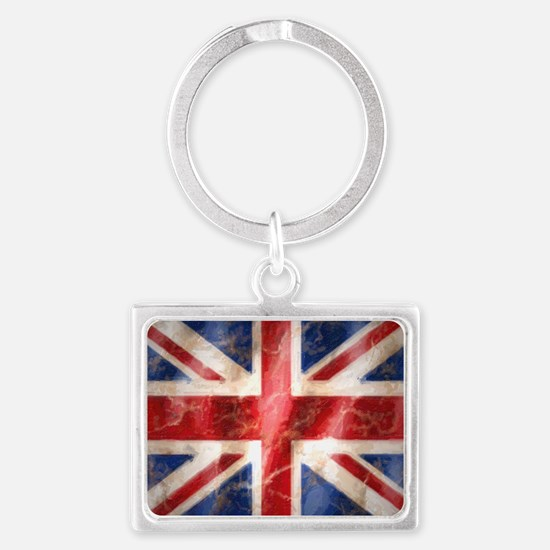 475 Union Jack Flag large Landscape Keychain