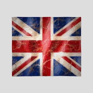 475 Union Jack Flag large Throw Blanket