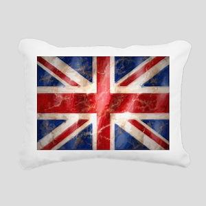 475 Union Jack Flag larg Rectangular Canvas Pillow