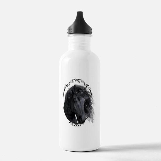black_horse_freigestel Water Bottle