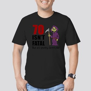 70 Isnt Fatal But Old Men's Fitted T-Shirt (dark)