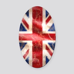 475 Union Jack Flag Kindle Sleeve Oval Car Magnet