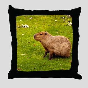 Capybara Throw Pillow