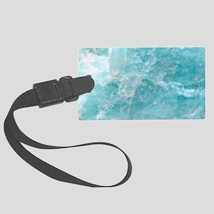 Blue-Agate-laptop-skin Large Luggage Tag