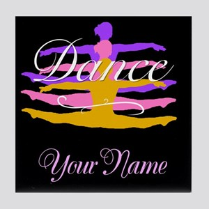 Dance Customizeable Tile Coaster
