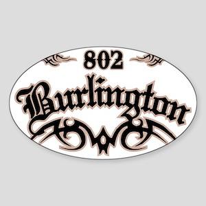 Burlington 802 Sticker (Oval)