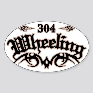 Wheeling 304 Sticker (Oval)