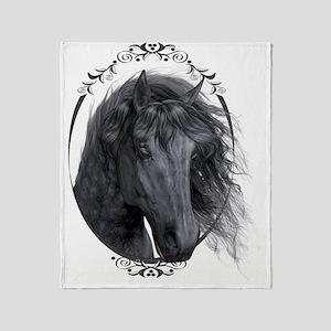 black_horse_hell_freigestellt_gesp Throw Blanket