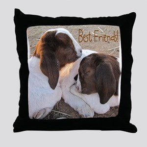 Best Friends! Throw Pillow